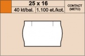 Etikety 25x16 mm contact oranž