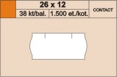 Etikety 26x12mm contact oranž.