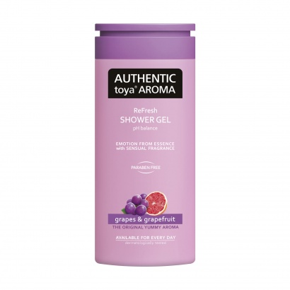 AUTHENTIC toya AROMA – sprchový gel Grapes & Grapefruit