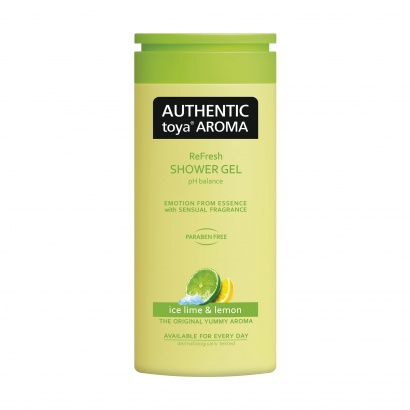 AUTHENTIC toya AROMA – sprchový gel ice lime & lemon