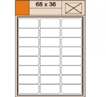 Etikety Print  A4 68 x 36 bílé,100 archů