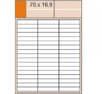 Etikety Print  A4 70 x 16,9 bílé,100 archů,100 archů