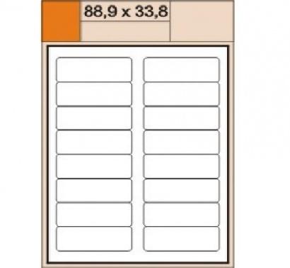 Etikety Print  A4 88,9 x 33,8 bílé,100 archů