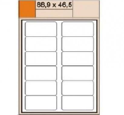 Etikety Print  A4 88,9 x 46,5 bílá,100 archů