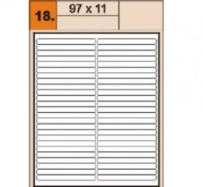 Etikety Print  A4 97 x 11 bílé,100 archů