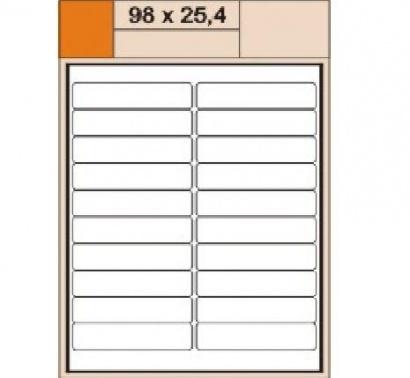 Etikety Print  A4 98 x 25,4 bílé,100 archů