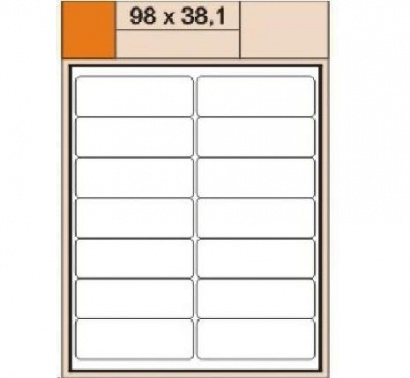 Etikety Print  A4 98 x 38,1 bílé,100 archů