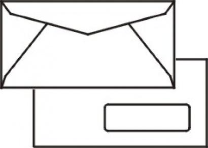 Obálka C5/6 okénková pro automatické plnění  1000 ks