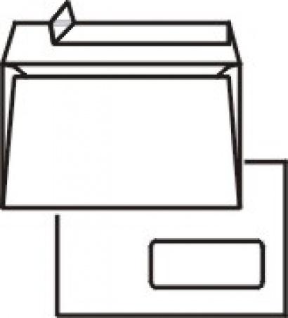 Obálka C6 s okénkem a krycí páskou 1000 ks