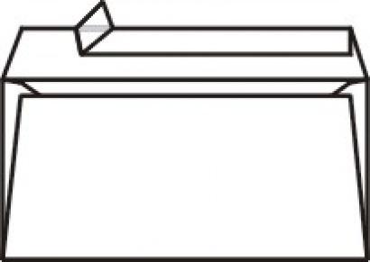 Obálka DL samolepící s krycí páskou 1000 ks