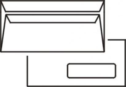 Obálka DL samolepící s okénkem 50 ks