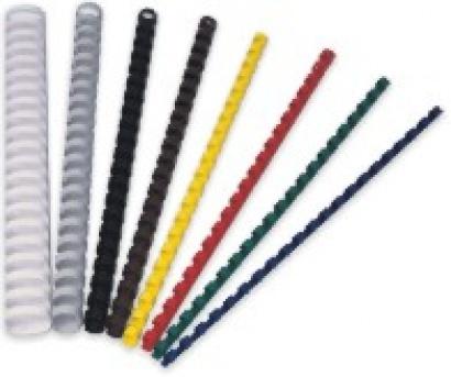 Plast.hřbety pro kroužk.vazbu modré 28 mm, 50 ks